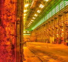 Turbine shop .. rust & green by Michael Matthews