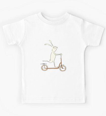 scooter - blue Kids Tee