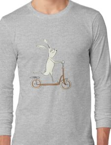 scooter - blue Long Sleeve T-Shirt