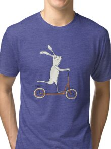 scooter - blue Tri-blend T-Shirt