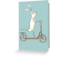 scooter - blue Greeting Card