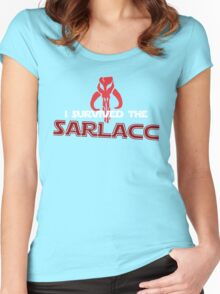 I Survived the Sarlacc Women's Fitted Scoop T-Shirt