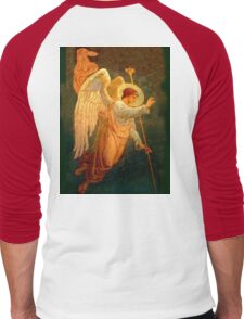 Angel, angelology, Halo, Holy, Giving Benediction, Protect, Protection, Church, St Petersburg, Russia Men's Baseball ¾ T-Shirt