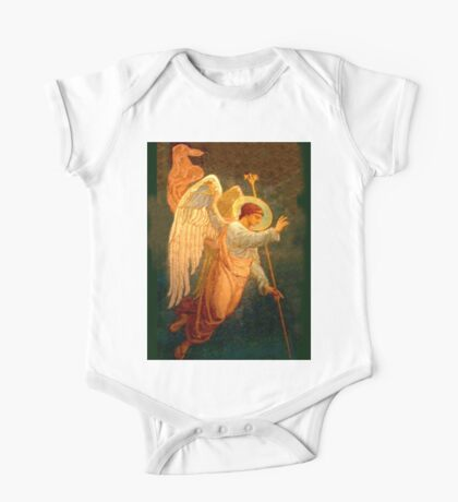 Angel, angelology, Halo, Holy, Giving Benediction, Protect, Protection, Church, St Petersburg, Russia One Piece - Short Sleeve