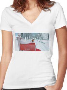 Snow Bird Women's Fitted V-Neck T-Shirt