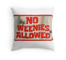 Spongebob Squarepants - No Weenies Allowed Throw Pillow