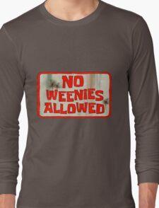 Spongebob Squarepants - No Weenies Allowed Long Sleeve T-Shirt