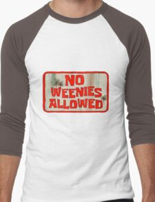Spongebob Squarepants - No Weenies Allowed Men's Baseball ¾ T-Shirt