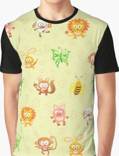 Cute animal kingdom Graphic T-Shirt