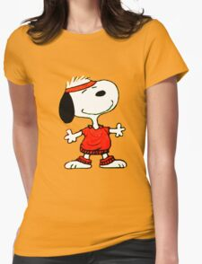 1snoopy sport Womens Fitted T-Shirt