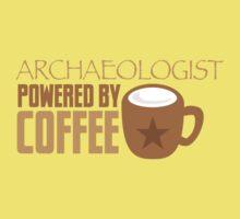 Archaeologist powered by coffee Kids Tee