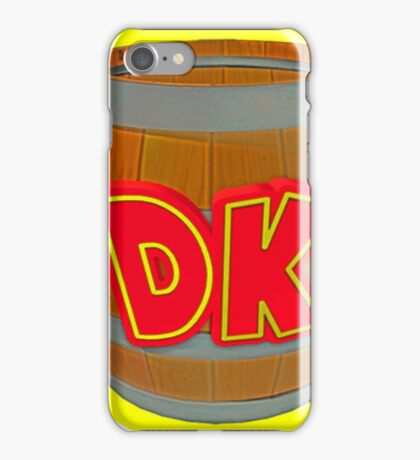 Donkey Kong Country - DK Barrel  iPhone Case/Skin