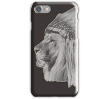 Lion Chief - Black and White iPhone Case/Skin