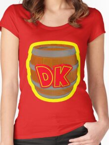Donkey Kong Country - DK Barrel  Women's Fitted Scoop T-Shirt