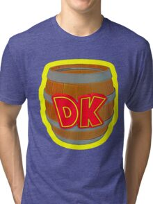 Donkey Kong Country - DK Barrel  Tri-blend T-Shirt