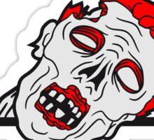 wand mauer klettern schild harmen text schreiben gesicht horror halloween kopf zombie böse gruselig cartoon  Sticker