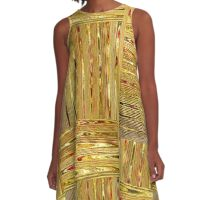 Gold Rush A-Line Dress