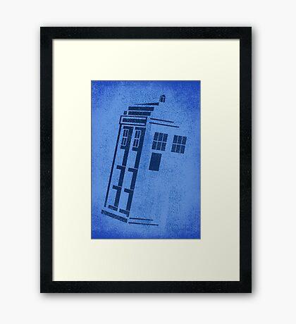 Big Blue Box Framed Print