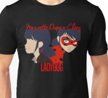 Dual Identities: Marinette and Ladybug Unisex T-Shirt