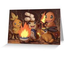 Fire Type Greeting Card