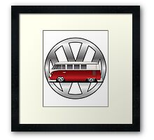 Slammed Red and White Transporter Framed Print
