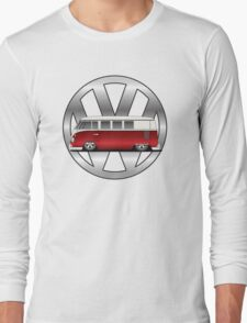 Slammed Red and White Transporter Long Sleeve T-Shirt