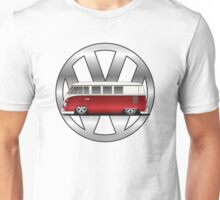 Slammed Red and White Transporter Unisex T-Shirt