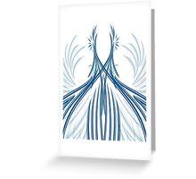 Courbes bleutés en symétrie Greeting Card
