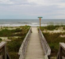 Beach Entrance Sticker