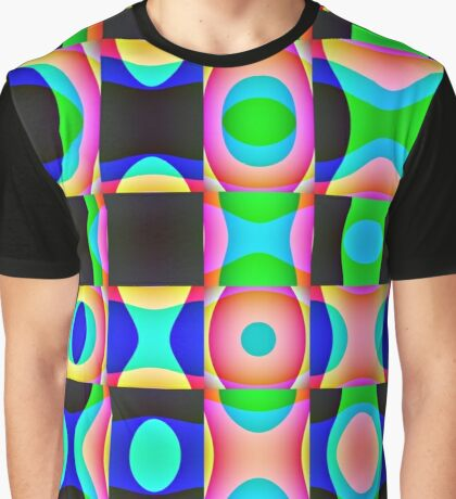 Colorful Psychedelic Abstract Pattern Graphic T-Shirt