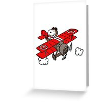 flying snoopy Greeting Card