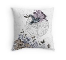 astrological garden party Throw Pillow