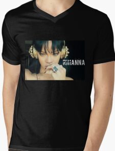 Rihanna Mens V-Neck T-Shirt