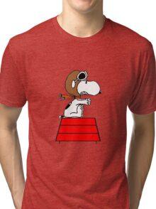 flying pilot snoopy fun Tri-blend T-Shirt