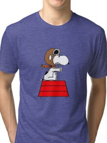 flying pilot snoopy fun Tri-blend T-Shirt