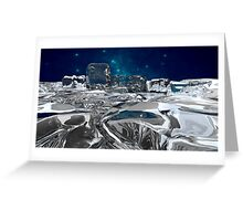 Cold Landscape Greeting Card