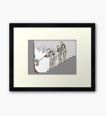 Accessing the Vault Framed Print