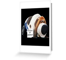 Pops - The secret life of pets Greeting Card
