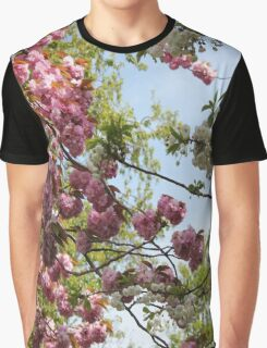 Pink and White Blossoms Graphic T-Shirt
