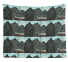 Net Huts and Boat Wall Tapestry