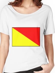 Letter O Flag Women's Relaxed Fit T-Shirt