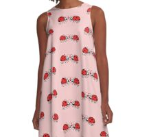 Ladybugs tenderly falling in love A-Line Dress