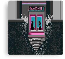 The Drill - Neon noir pixel art mystery Canvas Print