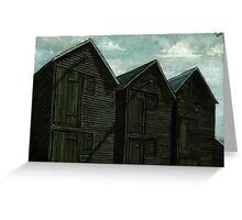 Net Huts in Warm Sunshine Greeting Card