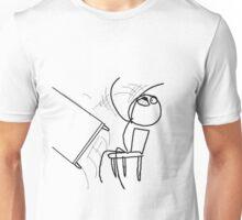 Table Flip Meme Rage Comic Flipping Angry Mad Unisex T-Shirt