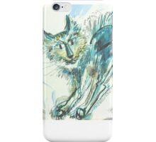 Green Cat Transformed: Sergei Lefert's drawing iPhone Case/Skin