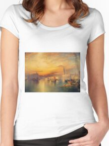 Thomas Moran - View Of Venice 1895. Women's Fitted Scoop T-Shirt