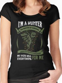 I'm A Hunter The Master Of Survival - Wow Women's Fitted Scoop T-Shirt