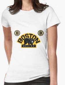boston bruin Womens Fitted T-Shirt