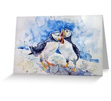 Puffins Greeting Card